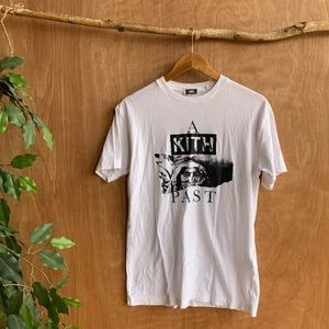 Kith a new past white tee shirt